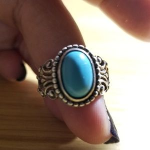 Avon Sterling Silver Turquoise Ring